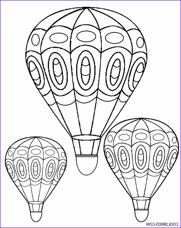 Balloon Coloring Pages Best Of Gallery 91 Best Images About Adult Colouring Hot Air Balloons On