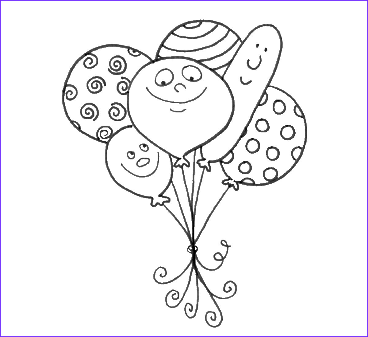 Balloon Coloring Pages Cool Image Balloons Coloring Pages