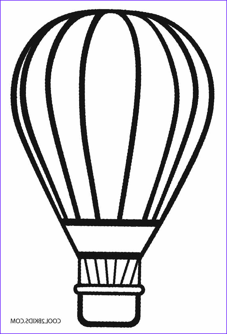 Balloon Coloring Pages Cool Stock Printable Hot Air Balloon Coloring Pages for Kids