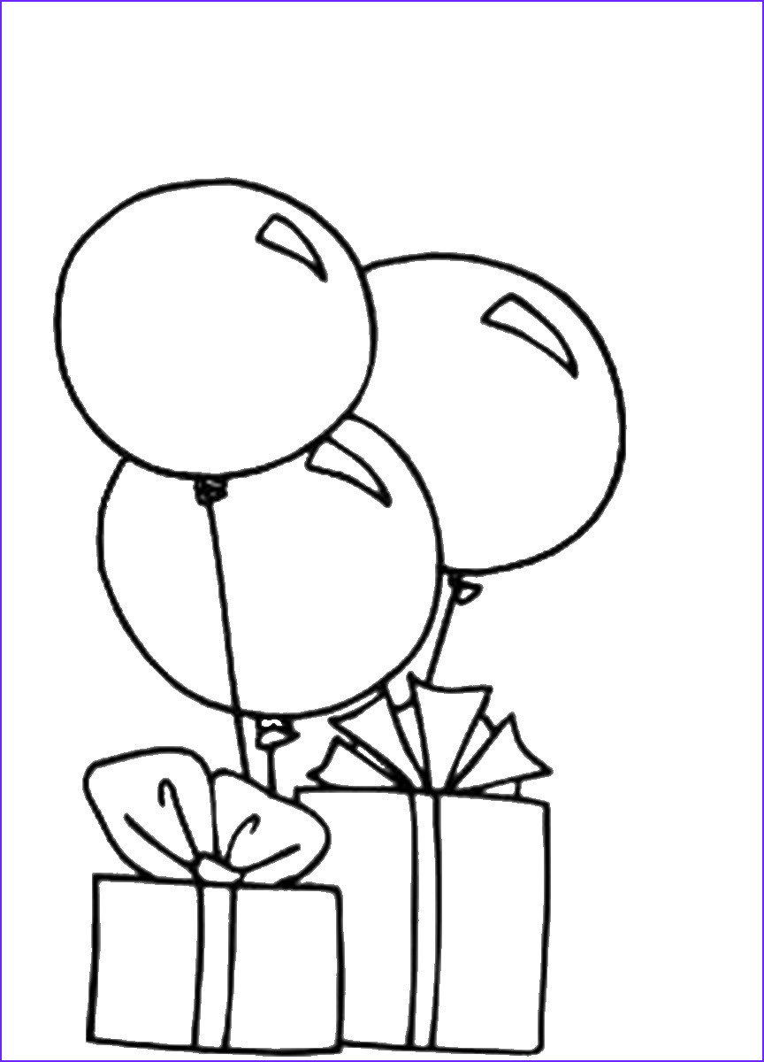 Balloon Coloring Pages Elegant Collection Balloons Coloring Pages