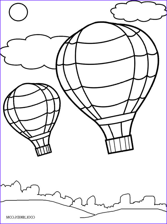Balloon Coloring Pages New Photography Printable Hot Air Balloon Coloring Pages for Kids