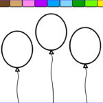 Balloon Coloring Pages Unique Photos Learn Colors For Kids And Color This Balloon Coloring Page