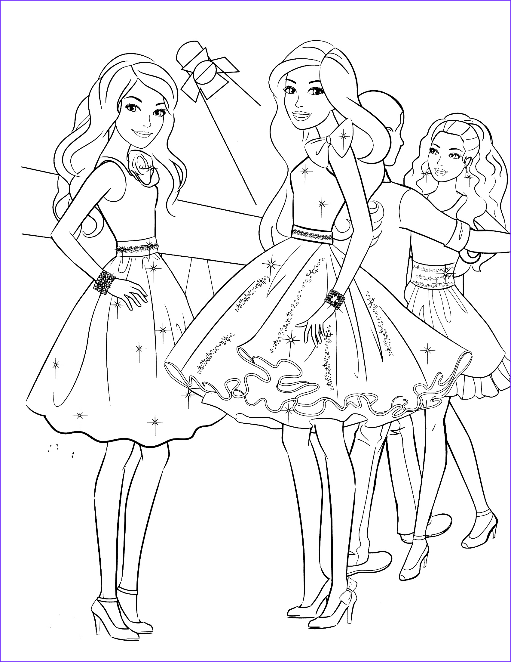 Barby Coloring Beautiful Gallery 85 Barbie Coloring Pages For Girls Barbie Princess