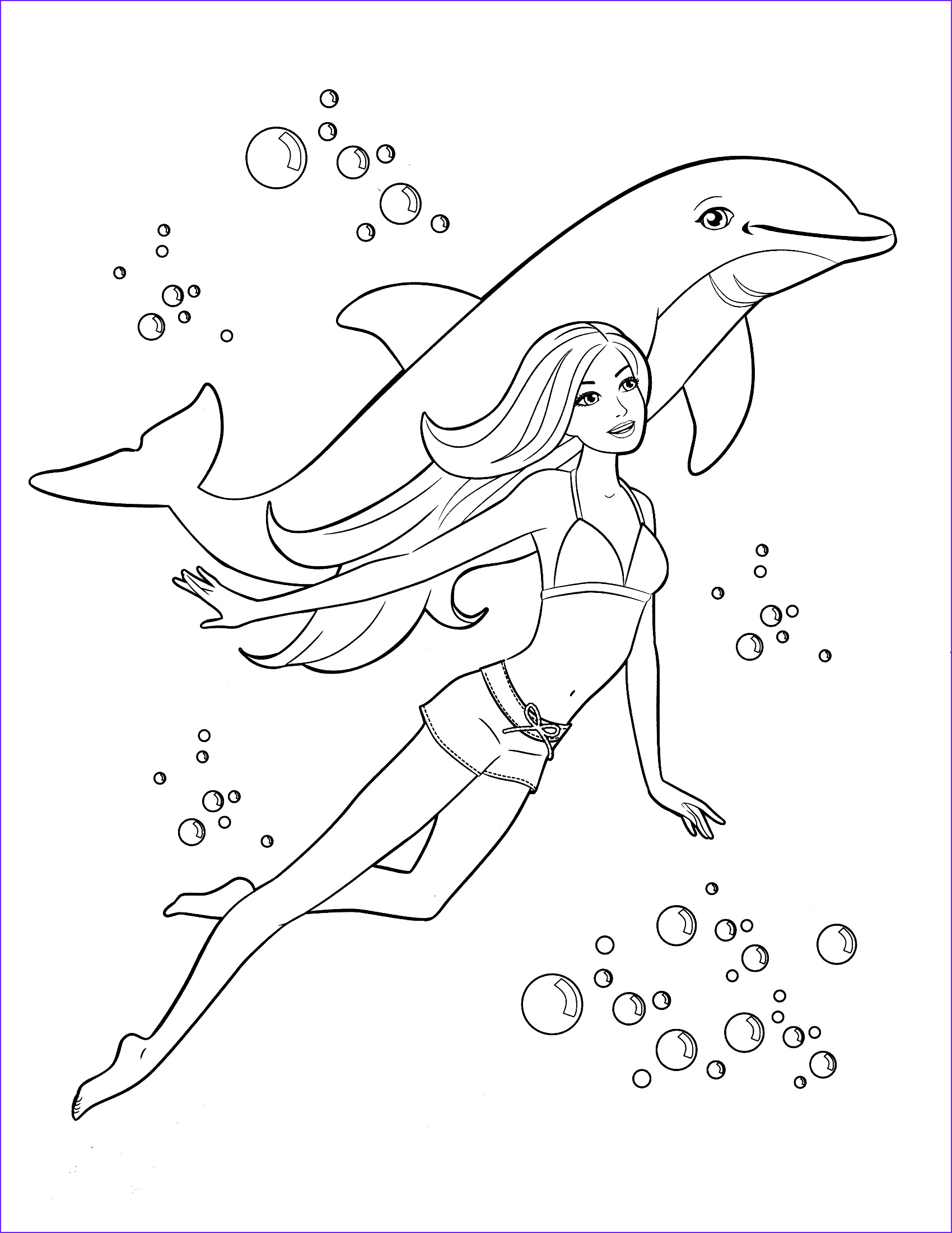 Barby Coloring Cool Gallery 85 Barbie Coloring Pages For Girls Barbie Princess