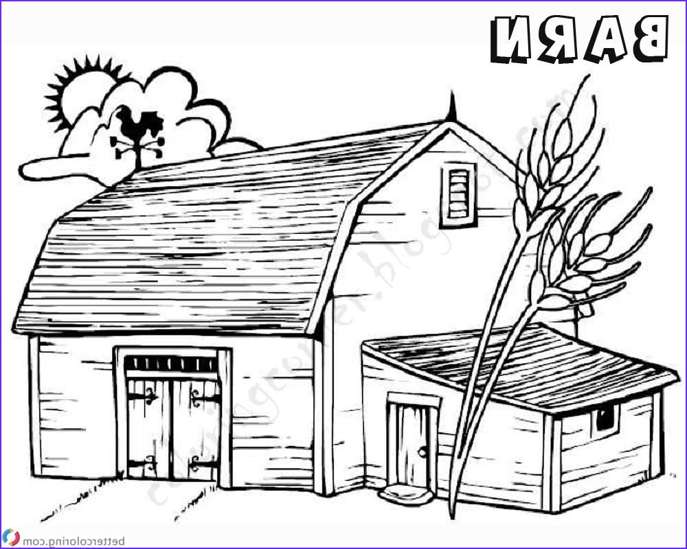 barn coloring pages sketch work