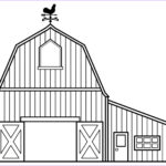 Barn Coloring Awesome Photos Farmer Clipart Black And White