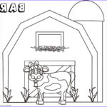 Barn Coloring Beautiful Image Barn Coloring Pages Cute Cow Free Printable Coloring Pages