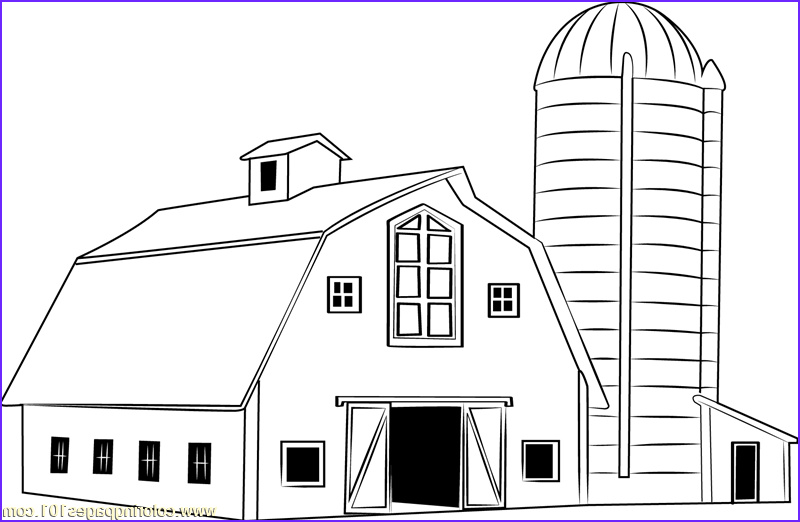 barn coloring pages free