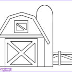 Barn Coloring Luxury Image How To Draw A Barn Step By Step Buildings Landmarks