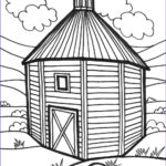 Barn Coloring Unique Photos Simple Barn Drawing At Getdrawings