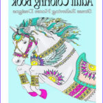 Barnes And Noble Coloring Books For Adults New Photography Adult Coloring Book Stress Relieving Horse Designs By
