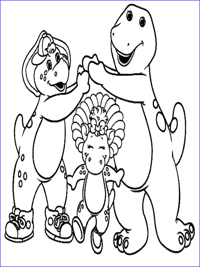 printable barney and friends coloring