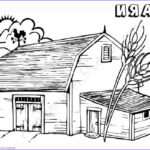 Barnyard Coloring Beautiful Collection Barn Coloring Pages Sketch Work Free Printable Coloring
