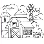 Barnyard Coloring Beautiful Stock Barn Coloring Pages Old Barn With Animals Gianfreda