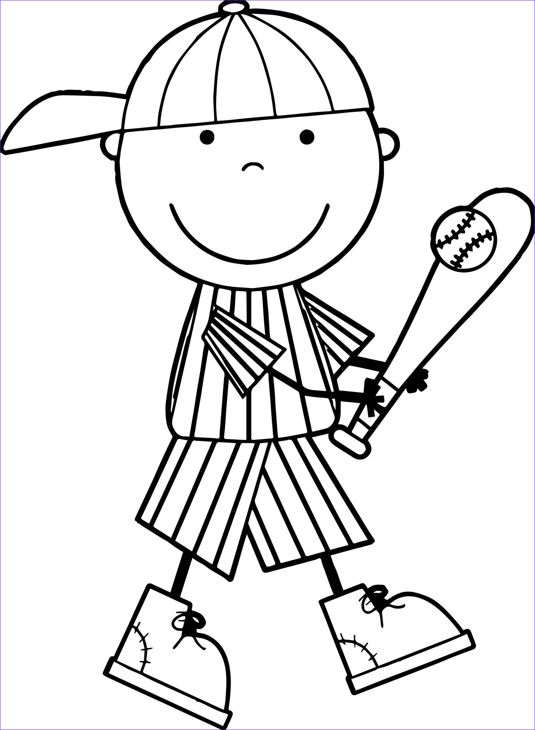 coloring pages of baseball