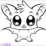 Bat Coloring Pages Luxury Gallery How To Draw A Cute Bat Step By Step Forest Animals