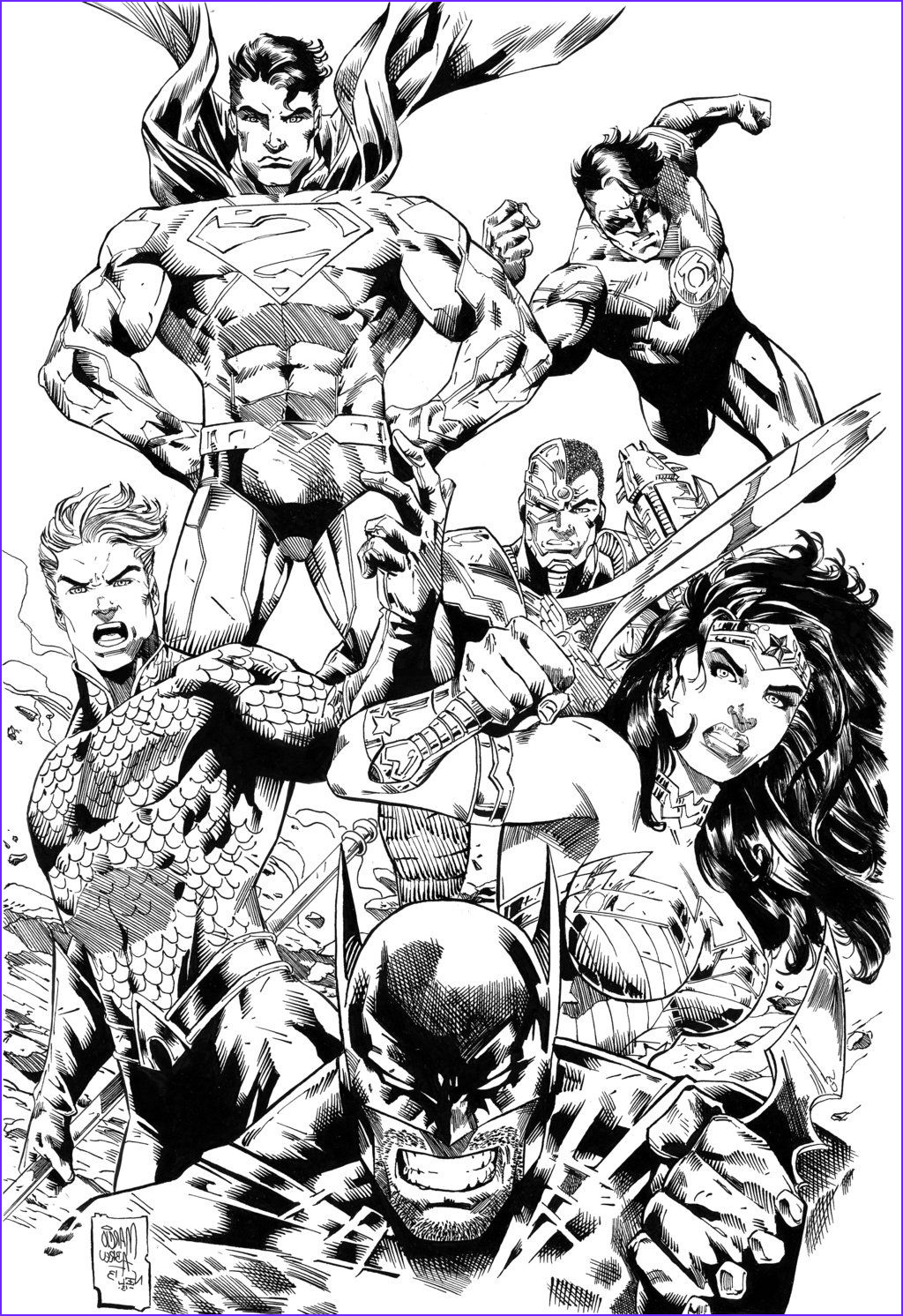 Batman Adult Coloring Book New Image Justice League Ic Colouring Page