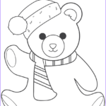 Bear Coloring Pages Beautiful Gallery Christmas Teddy Bear Coloring Page