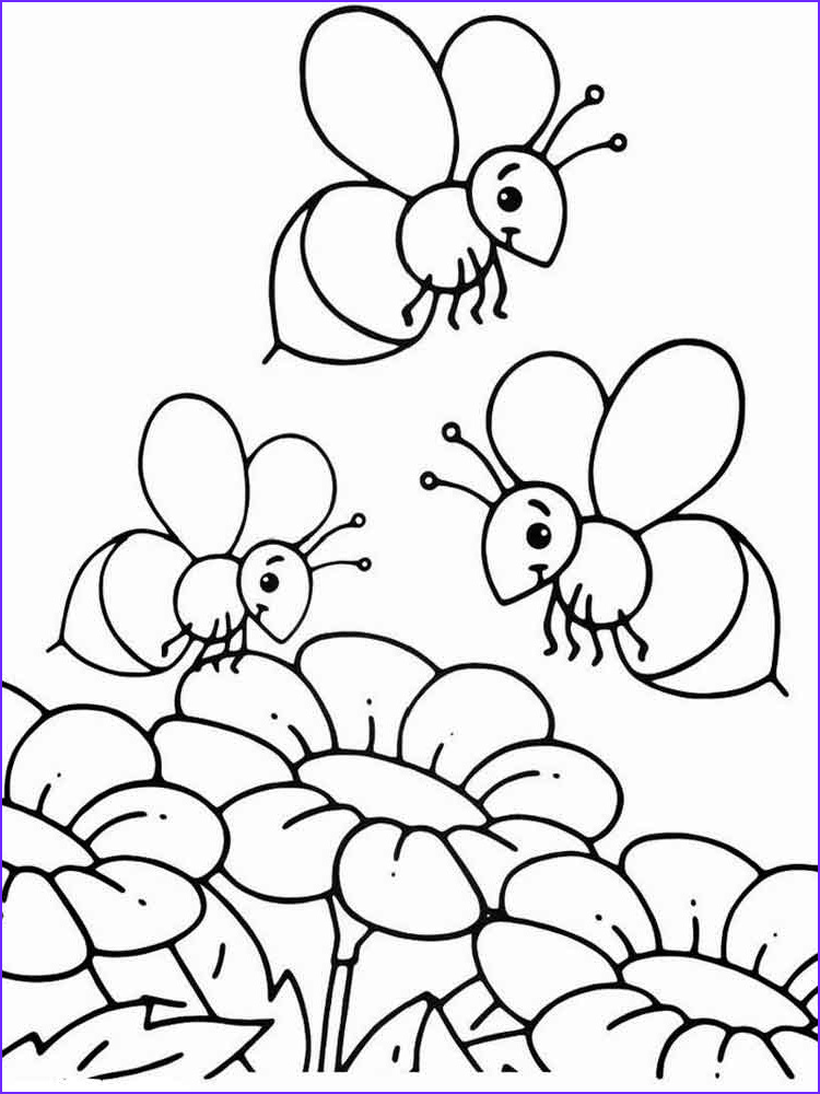 Bee Coloring Pages Beautiful Gallery Bee Coloring Pages Download and Print Bee Coloring Pages