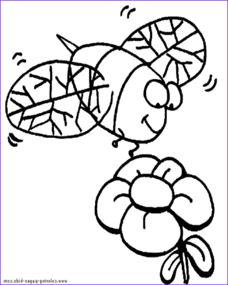 Bee Coloring Pages Cool Image Bee Coloring Pages Bees the Net