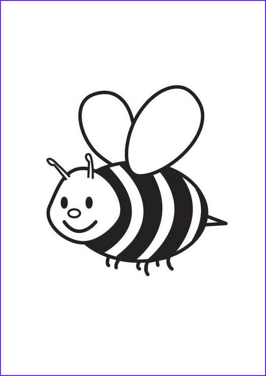 Bee Coloring Pages Cool Photography Free Printable Bumble Bee Coloring Pages for Kids Enjoy