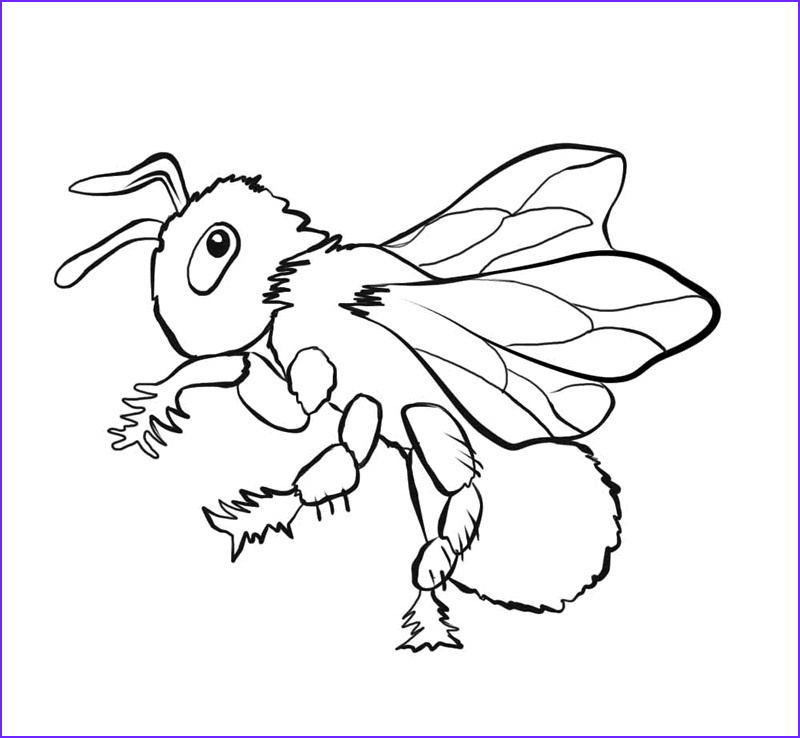 Bee Coloring Pages Unique Photos Free Printable Bee Coloring Pages for Kids