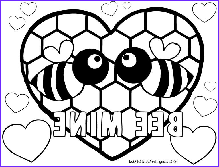 Bee Coloring Sheet Awesome Stock Valentines Crafting the Word God