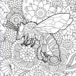 Bee Coloring Sheet New Image Friendly Bee Coloring Page Heritage Acres Market Llc