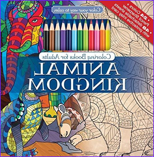 Best Colored Pencils for Adult Coloring Books Beautiful Photos Animal Kingdom Adult Coloring Book Set with 24 Colored