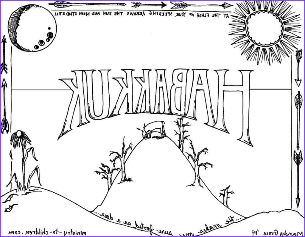 Bible Coloring Book Inspirational Images Habakkuk Bible Coloring Page Ministry to Children