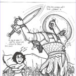 Bible Coloring Pages Cool Photos David And Goliath