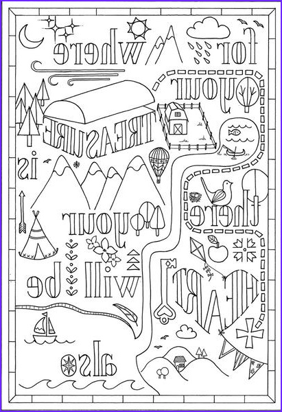 coloring for adults bible verse matthew 6
