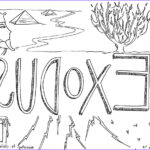 """Bible Coloring Pages Free Inspirational Photography """"book Of Exodus"""" Bible Coloring Page For Children"""
