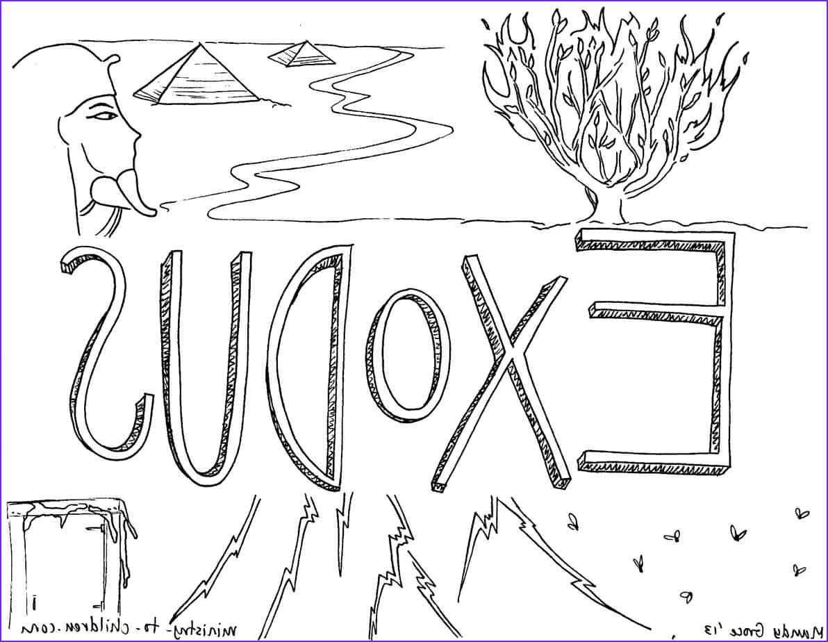 exodus bible coloring page