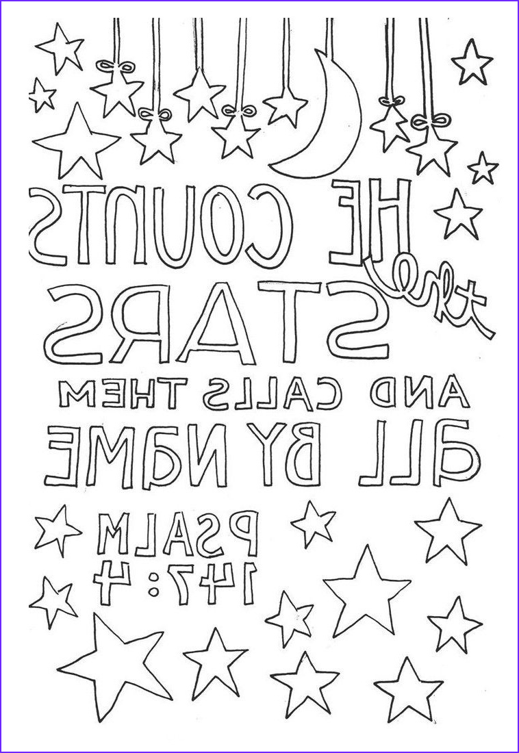 bible verse coloring pages psalm 147 4