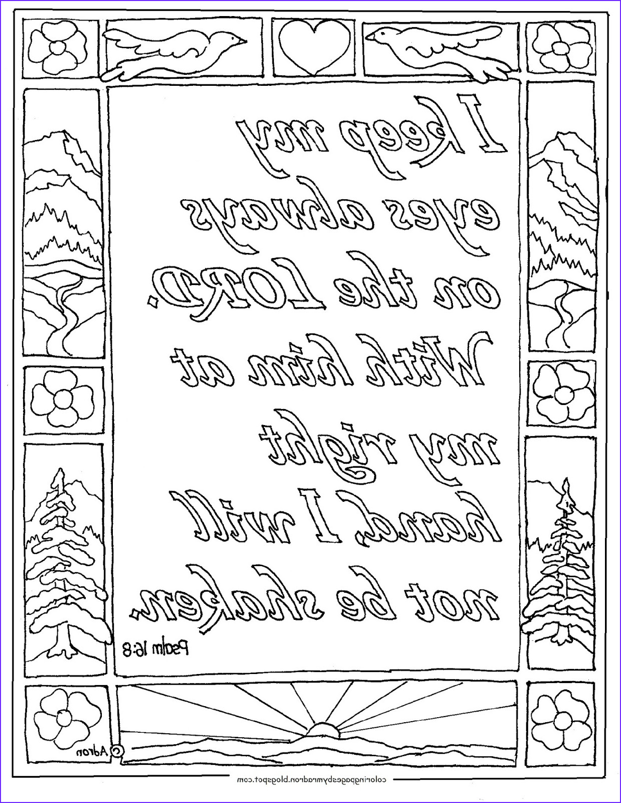 psalm 168 printable coloring page
