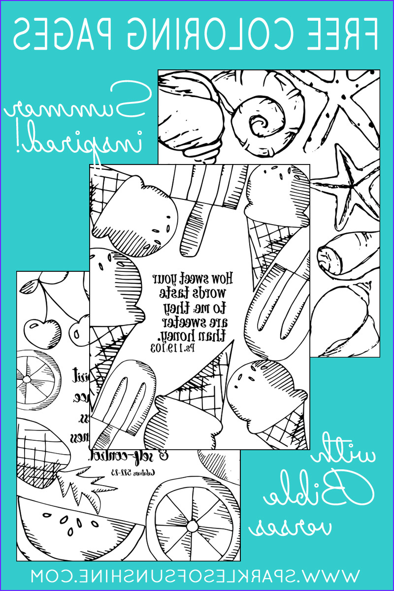 summer inspired free coloring pages bible verses