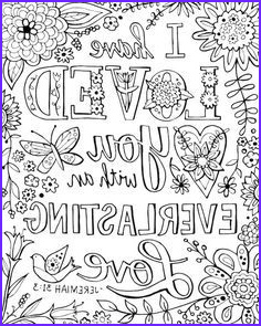 Bible Verses Coloring Book Luxury Image I Have Loved You with An Everlasting Love