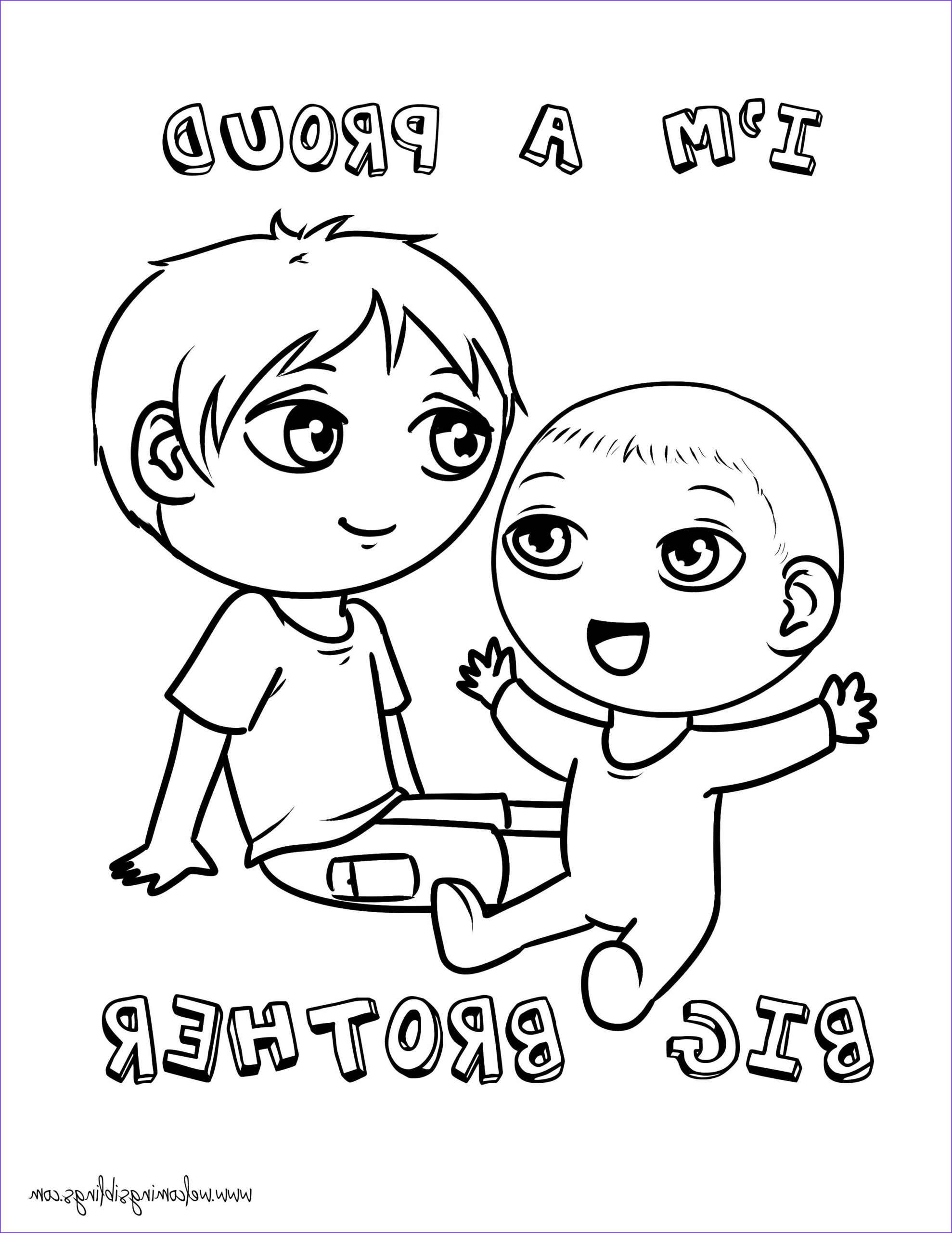 """Big Coloring Pages Beautiful Photos Free """"big Brother"""" Coloring Page Wel Ing Siblings"""