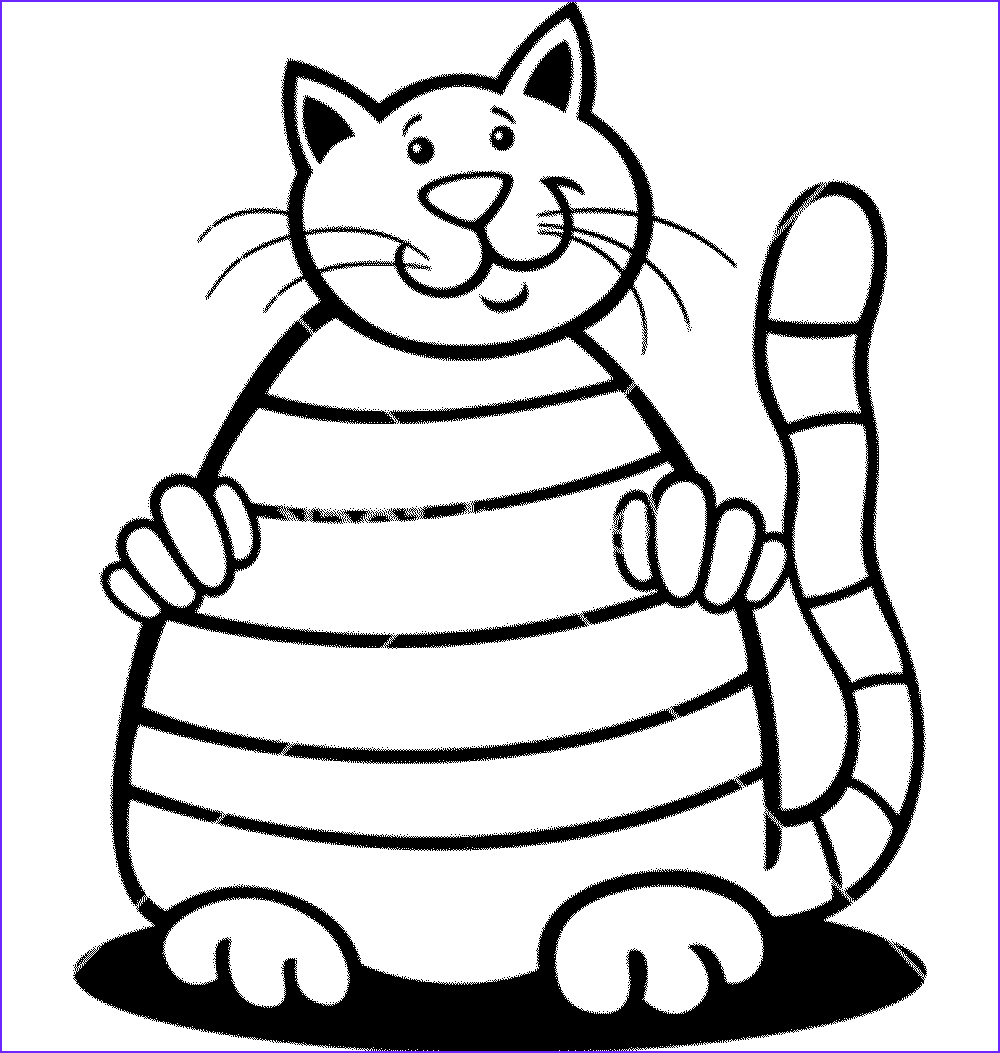benefit cat coloring pages