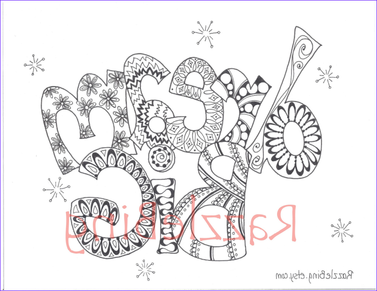 Big Coloring Pages New Photos Diy Printable Coloring Page Zentangle Inspired Dream