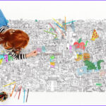 Big Coloring Poster Cool Images The Big Apple Nyc Giant Coloring Poster – Pirasta Nyc