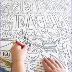 Big Coloring Poster New Photos Giant Halloween Coloring Poster