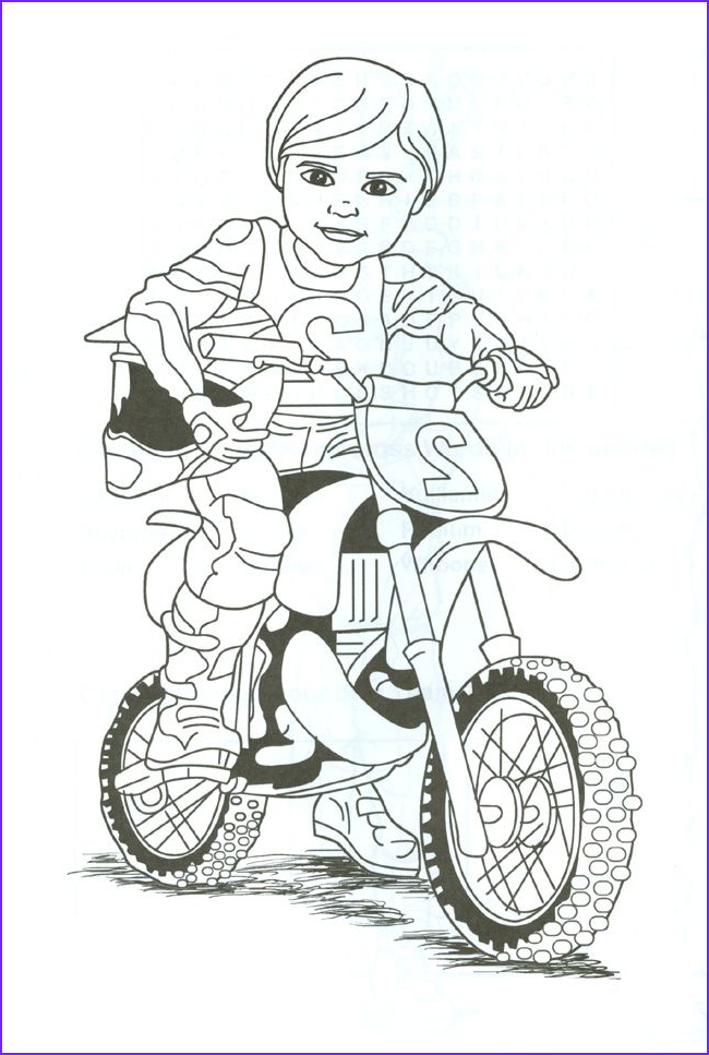Bike Coloring Beautiful Collection Dirt Bike Rider Coloring Page
