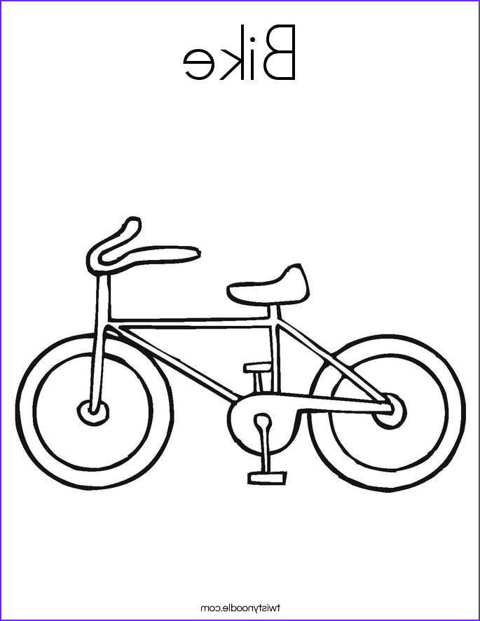 bike 3 coloring page
