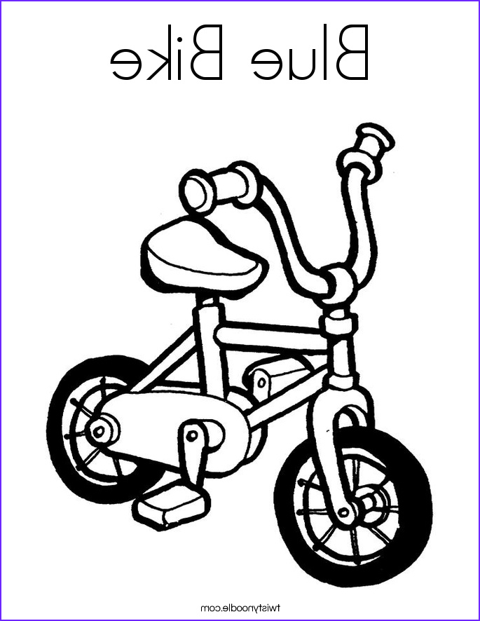 blue bike coloring page