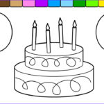 Birthday Balloons Coloring Pages Awesome Images Learn Colors For Kids With This Birthday Cake Balloon