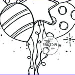 Birthday Balloons Coloring Pages Awesome Stock Happy Birthday Balloons Coloring Pages At Getcolorings
