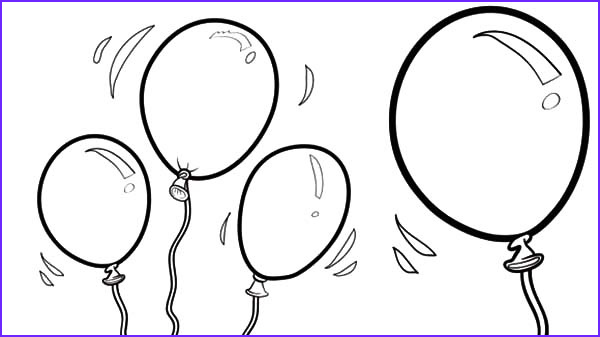happy birthday balloons coloring pages 2