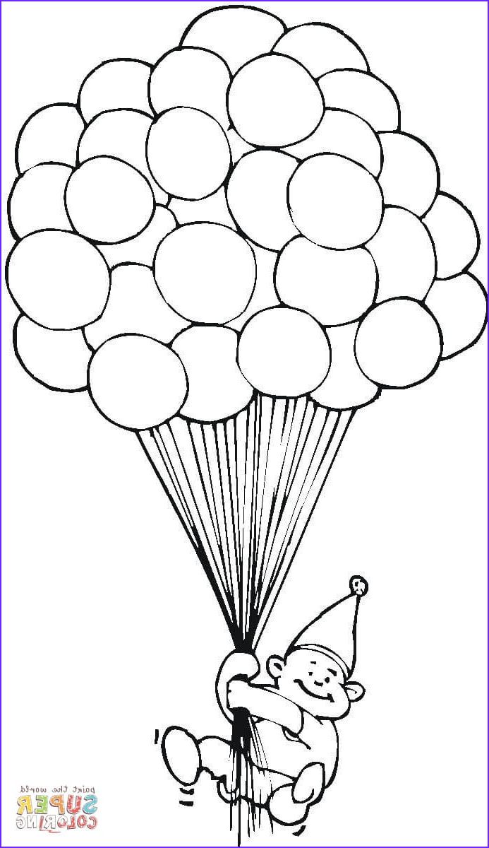 Birthday Balloons Coloring Pages Inspirational Collection Balloons Line